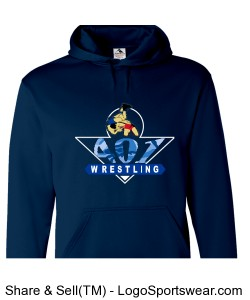 Wicking Fleece Hooded Team Sweatshirt Design Zoom